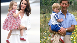 Princesa Charlotte usa sapatos do tio Harry