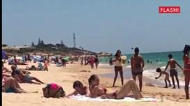 Simão Sabrosa de férias no Algarve.