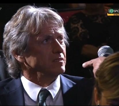 "Jorge Jesus ""passa-se"" com comediante na Gala do Sporting"