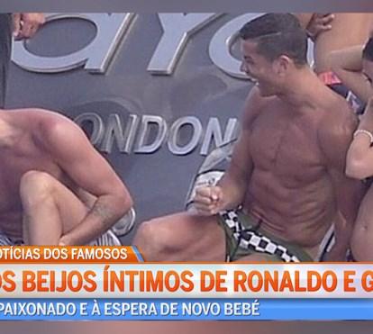 Cristiano Ronaldo está de férias com a namorada e toda a família