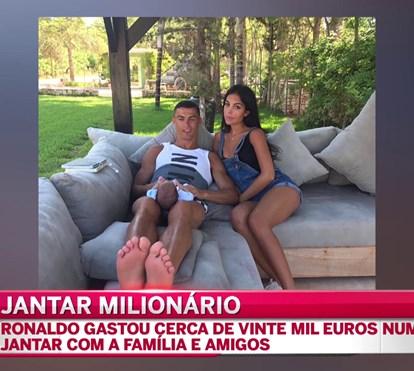 Cristiano Ronaldo gasta milhares em jantar