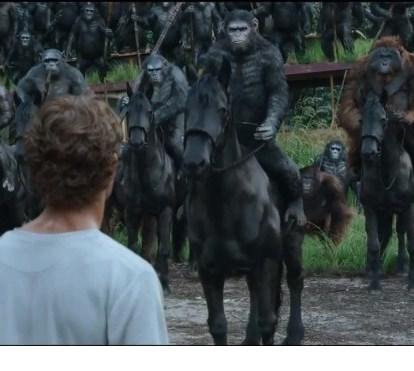 O regresso dos macacos em semana de filmes de ação