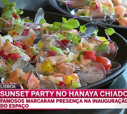 Sunset party no Hanaya Chiado