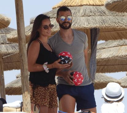 Simão Sabrosa e Vanessa Rebelo exibem físico notável em praia algarvia
