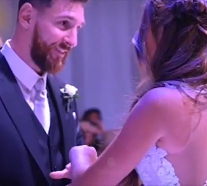 """Leo Messi mostra em vídeo """"momento único"""" do casamento com Antonela Roccuzzo"""