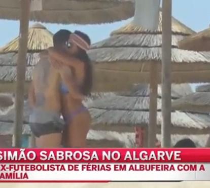Simão Sabrosa e Vanessa Rebelo de férias no Algarve