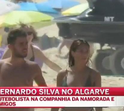 Bernardo Silva de férias com a namorada no Algarve
