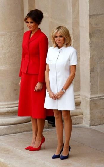 A elegância das primeiras-damas dos Estados Unidos e de França