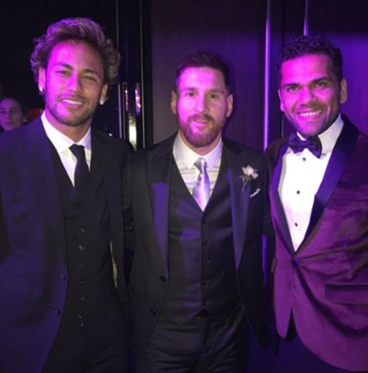Neymar, Messi e Dani Alves