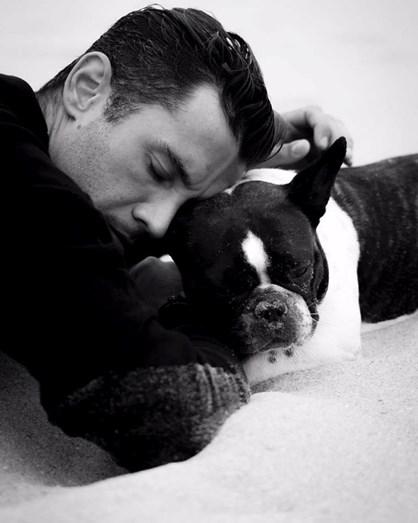 Pedro Barroso e a sua cadelinha Bau