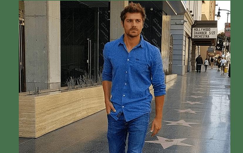 Lourenço Ortigão no passeio da fama em Hollywood