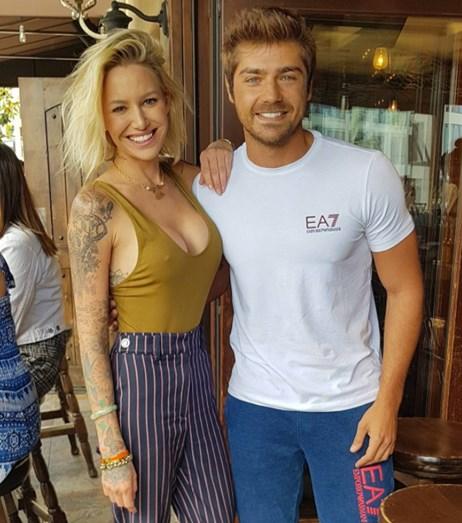 Lourenço Ortigão com a modelo Tina Louise