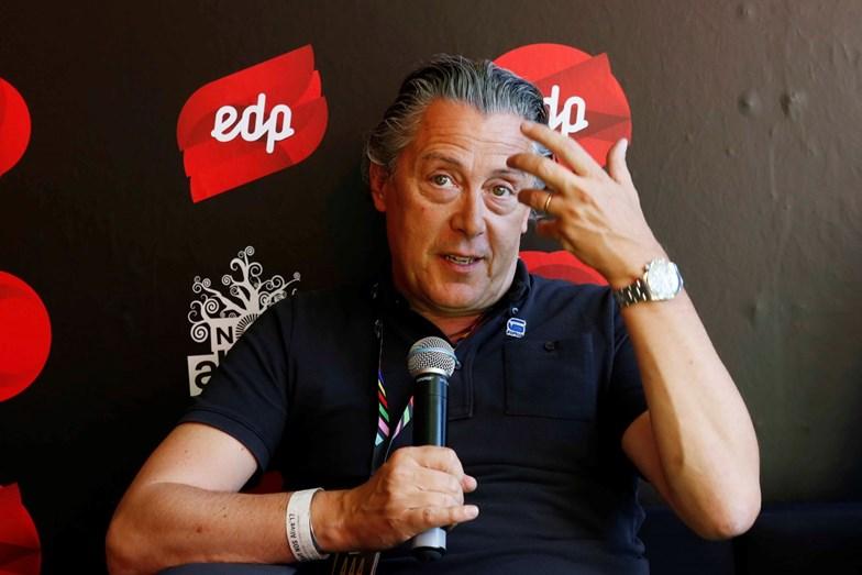 Álvaro Covões a explicar o novo conceito da rua EDP