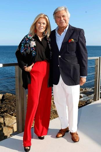 O casal Maria José Galvão De Sousa e Humberto Leal