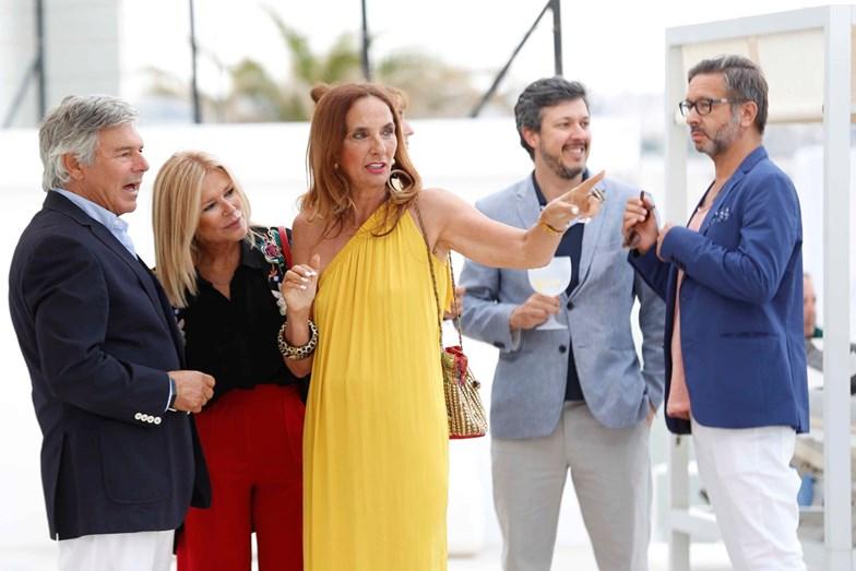 Os convidados: Humberto leal, Maria José Galvão de Sousa, Gilda Paredes Alves, Bruno Santos e Joaquim Sousa Martins.