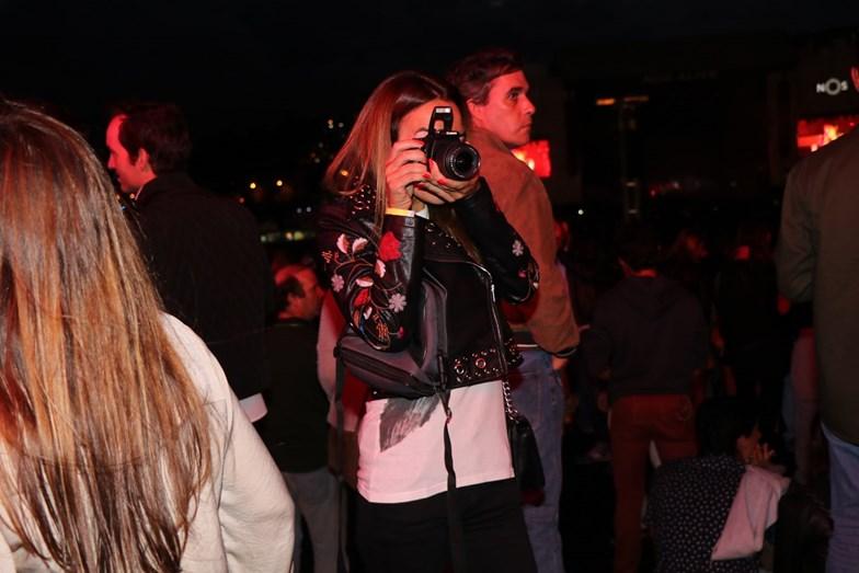 Liliana Aguiar a fotografar o namorado