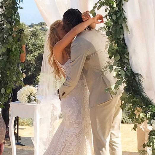A modelo belga e o futebolista casaram-se em Albufeira, no dia 9 de julho