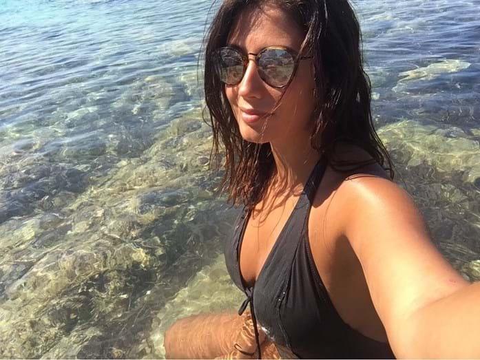 Inês Simões de férias em Sardenha.