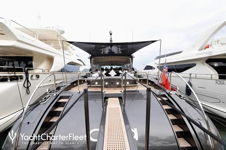 O interior do iate alugado por CR7 em Ibiza