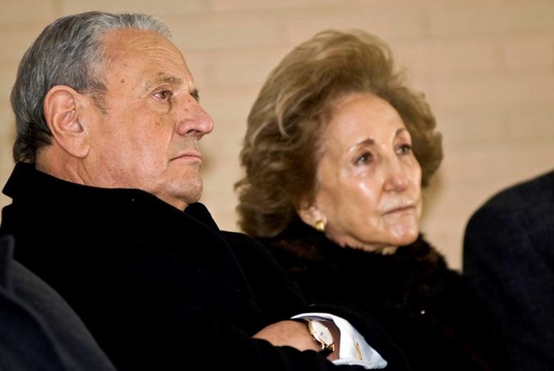 Américo Amorim com a mulher (imagem de arquivo)