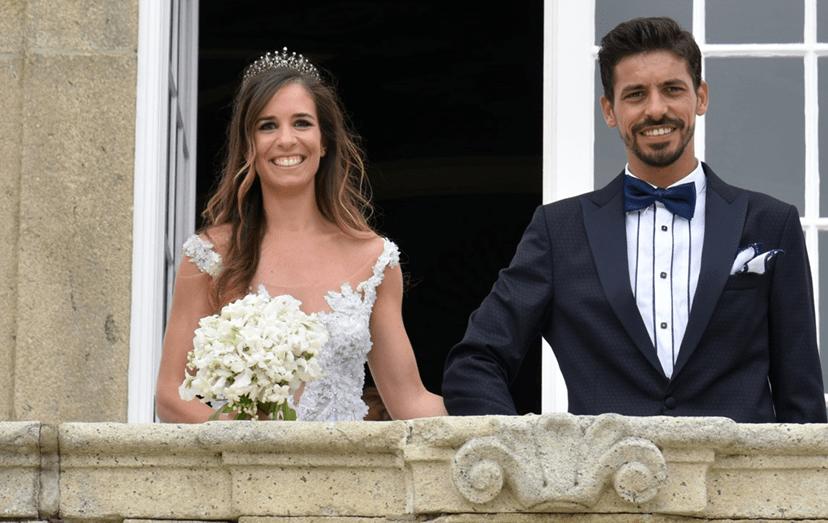 Os noivos, Ana Lisa Magalhães e  Carlos Manuel Braga