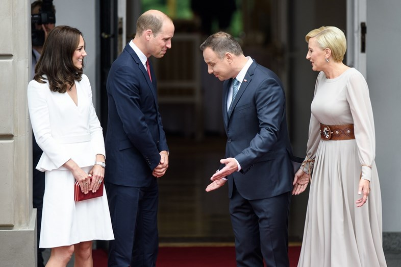 William e Kate na Polónia