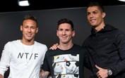 Ronaldo, Messi e Neymar unidos na dor