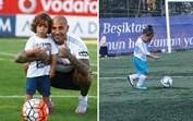 Filho de 4 anos de Quaresma também tem talento para o futebol