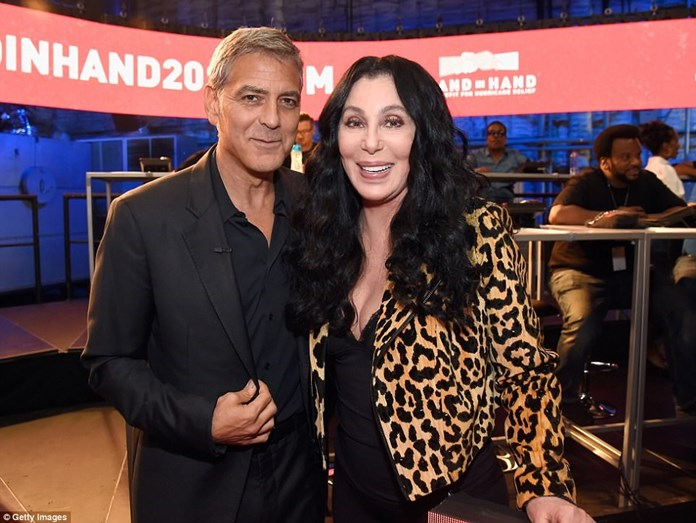 George Clooney e Cher