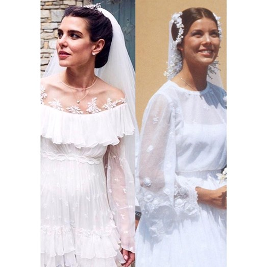 Charlotte Casiraghi, Dimitri Rassam e princesa Carolina do Mónaco