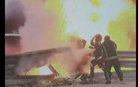 Milagre. As imagens impressionantes após o grave acidente na Fórmula 1 no Bahrein