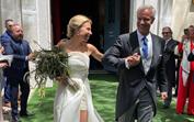 """O """"começo de um grande final feliz"""": as imagens do casamento de Ricardo Carriço e Ana Rebelo"""